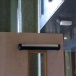 Door closing sensor. Safety is our watchword - sensors to prevent doors hitting obstructions or slow movers
