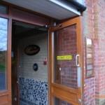 Automatic entrance door. 'Open Sesame' - the door opens on approach