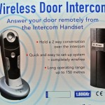 Wireless door intercom - a complete kit that lets you answer your door remotely from the intercom handset